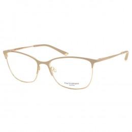Óculos de Grau Ana Hickmann Gatinho Metal Bege Aro Fechado Com Plaquetas  ah1351 04a 32288a6a6a