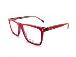 Óculos de Grau Ana Hickmann Quadrado Acetato Vermelha Aro Fechado Sem  Plaquetas hi6017 c06 913d650e6d