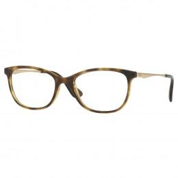 Óculos de Grau Ray-Ban Redondo Acetato Tartaruga Aro Fechado Sem Plaquetas  0rx7106l 599953 e7d8c55236