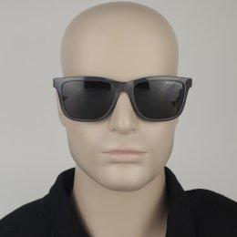 fdebb9a7b408e Óculos de Sol Armani Exchange Quadrado Armação Acetato Cinza Lente Preta  Comum Sem Plaquetas 0ax4045sl 824487