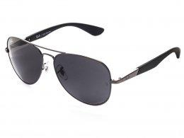 Óculos de Sol Ray-Ban Aviador Armação Metal Cinza Lente Cinza Comum Com  Plaquetas 0rb3554l 3f1eac6ff3