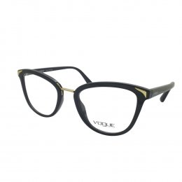 2887ba4418d9c Óculos de Grau Vogue Redondo Acetato Preta Aro Fechado Sem Plaquetas  0vo5231l w44 51