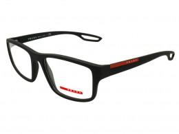 Óculos de Grau Prada Quadrado Acetato Preta Aro Fechado Sem Plaquetas  0ps09gvdg01o155 d10823f990