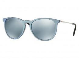 dd017543a Óculos de Sol Ray-Ban Redondo Armação Acetato Azul Lente Azul Espelhada Sem  Plaquetas 0rb4171