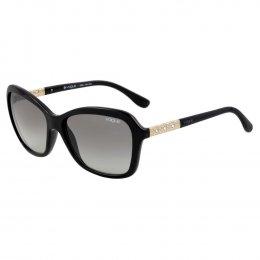 Óculos de Sol Vogue Quadrado Armação Acetato Preto Lente Preta Comum Sem  Plaquetas vo5021bl w44  d9e58c278e
