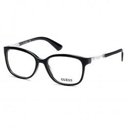 3537bc9c28c40 Óculos de Grau Guess Redondo Acetato Preta Aro Fechado Sem Plaquetas gu2560  52001