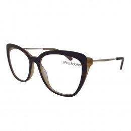 043661cce1abe Óculos de Grau Spellbound Quadrado Acetato Marrom Aro Fechado Sem Plaquetas  sb 16485 2