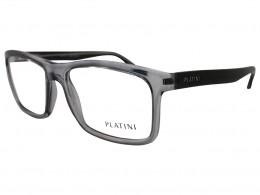 3a64f4c96ce68 Óculos de Grau Platini Quadrado Cinza Aro Fechado Sem Plaquetas  0p93106c83755