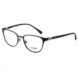 74a3011f6fdc0 Óculos de Grau Vogue Retangular Metal Preta Aro Fechado Com Plaquetas  0VO4062B 352 52