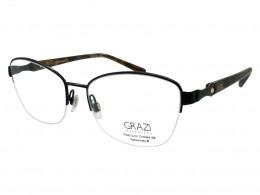 4a89f84b72130 Óculos de Grau Grazi Massafera Quadrado Metal Preta Aro Aberto Com Plaquetas  0gz1008be29654