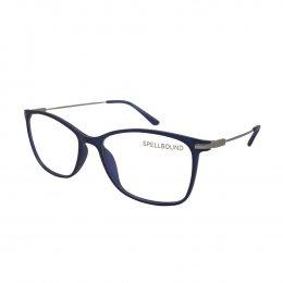 Óculos de Grau Spellbound Quadrado Acetato Azul Aro Fechado Sem Plaquetas sb  014 1 2d74206382