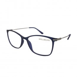 3afeeb3754ab4 Óculos de Grau Spellbound Quadrado Acetato Azul Aro Fechado Sem Plaquetas  sb 014 1