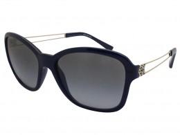 Óculos de Sol Grazi Massafera Quadrado Armação Acetato Azul Lente Preta  Degradê Sem Plaquetas 0gz4006 d445 7a152077db
