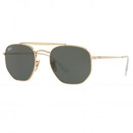 Óculos de Sol Ray-Ban Hexagonal Armação Metal Dourado Lente Verde Comum Com Plaquetas  0rb3648 6b3574a314