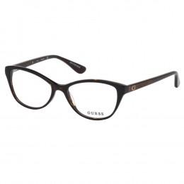 00684772a1929 Óculos de Grau Guess Gatinho Acetato Tartatuga Aro Fechado Sem Plaquetas  gu2634 52050