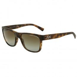 8210db2f3f44c Óculos de Sol Armani Exchange Wayfarer Armação Acetato Tartaruga Lente  Verde Comum Sem Plaquetas ax4063sl 80297157