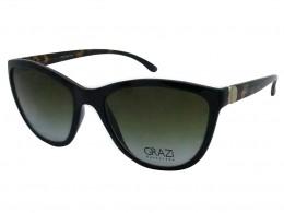 a2ec6327b64ae Óculos de Sol Grazi Massafera Redondo Armação Acetato Preta Lente Marrom Degradê  Sem Plaquetas 0gz4007d40854