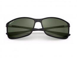 38a63cb57d9da Óculos de Sol Ray-Ban Retangular Armação Acetato Preto Lente Verde  Polarizada Sem Plaquetas 0rb4179