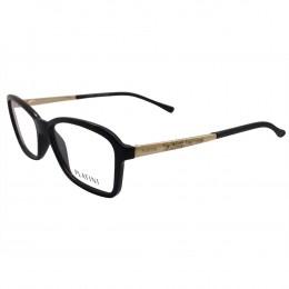 8410fee2b009a Óculos de Grau Platini Quadrado Acetato Preta Aro Fechado Sem Plaquetas  0p93112 d195 52