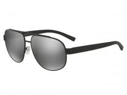 568dcc005440a Óculos de Sol Armani Exchange Aviador Armação Acetato Preta Lente Cinza  Espelhada Com Plaquetas 0ax2019sl60636g60
