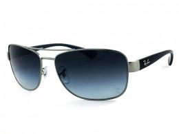 Óculos de Sol Ray-Ban Quadrado Armação Metal Cinza Lente Azul Degradê Com  Plaquetas 0rb3518l029 48da44ba6b