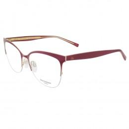 71224031cf7e1 Óculos de Grau Ana Hickmann Gatinho Metal Vermelha Aro Aberto Com Plaquetas  AH1347 07A