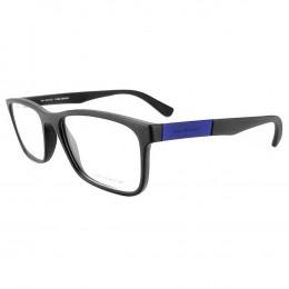 6a2a803ef Óculos de Grau Jean Monnier Quadrado Acetato Preta Aro Fechado Sem Plaquetas  0j83166 f313 54