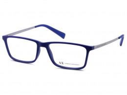 4a3a65fa01d55 Óculos de Grau Armani Exchange Retangular Acetato Azul Aro Fechado Sem  Plaquetas 0ax3027l816855
