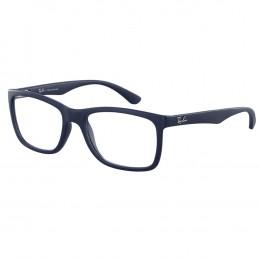 3c0562d9fc483 Óculos de Grau Ray-Ban Wayfarer Acetato Azul Aro Fechado Sem Plaquetas  0rx7027l 5412 54