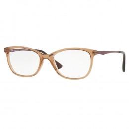 aaa2d11ee Óculos de Grau Ray-Ban Gatinho Acetato Marrom Aro Fechado Sem Plaquetas  rx7106l 5706 53