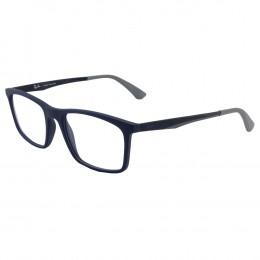 Óculos de Grau Ray-Ban Retangular Acetato Azul Aro Fechado Sem Plaquetas  0rx7134l 5412 53 db5db9d92b