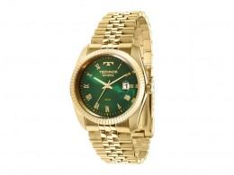 Relógio Technos Classic Dourado e Verde Unissex f25058319f