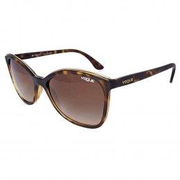 ddbb1f0ee9036 Óculos de Sol Vogue Gatinho Armação Acetato Tartaruga Lente Marrom Degradê Sem  Plaquetas vo5159sl w6561358