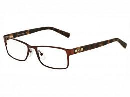 5de27ecfa20b3 Óculos de Grau Armani Exchange Retangular Metal Marrom Aro Fechado Com  Plaquetas 0ax1003l601654