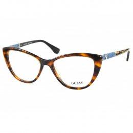 Óculos de Grau Guess Gatinho Acetato Tartaruga Aro Fechado Sem Plaquetas  gu2593 53056 de440afeac
