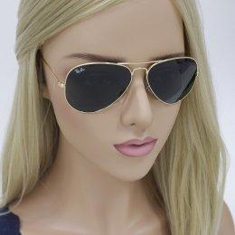 7449365d229ec Óculos de Sol Ray-Ban Aviador Armação Metal Dourado Lente Cinza Comum Com  Plaquetas 0rb3025L