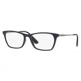 Óculos de Grau Ray-Ban Quadrado Acetato Azul Escuro Aro Fechado Sem  Plaquetas 0rx7053l 5584 b0bf84189c