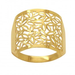 0d1c71e601607 Anel Ouro 18k Amarelo Aro Chapa Quadrado Cortes Navetes Diamantados