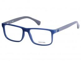 4cb6044c4185f Óculos de Grau Guess Quadrado Acetato Azul Aro Fechado Sem Plaquetas  gu1895 55091