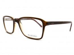 ffb55ff1c09af Óculos de Grau Platini Retangular Acetato Marrom Aro Fechado Sem Plaquetas  0p93128d98652