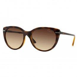 Óculos de Sol Vogue Redondo Armação Acetato Tartaruga Lente Marrom Degradê Sem  Plaquetas vo2941s w6561356 049cbfc2e5