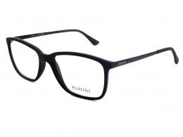 e886774a43f23 Óculos de Grau Platini Quadrado Acetato Cinza Aro Fechado Sem Plaquetas  0p93125 e688 54