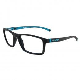 1eee02c211082 Óculos de Grau Arnette Retangular Acetato Emborrachado Preta Aro Fechado  Sem Plaquetas 0an7083l 2292 55