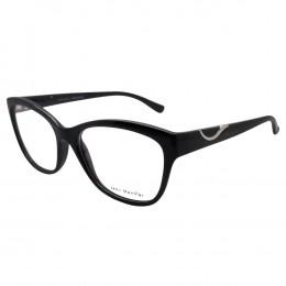 7554de6e598d3 Óculos de Grau Jean Monnier Gatinho Acetato Preta Aro Fechado Sem Plaquetas