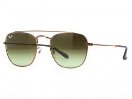457041174a Óculos de Sol Ray-Ban Redondo Armação Metal Vermelha Lente Marrom Degradê  Com Plaquetas 0rb3557