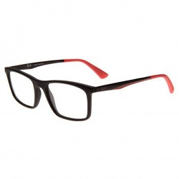 29aa092962321 Óculos de Grau Ray-Ban Quadrado Acetato Preta Aro Fechado Sem Plaquetas  0rx7134l 519653