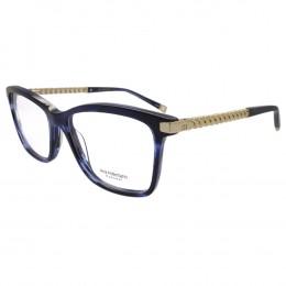 bec15cd4d5b36 Óculos de Grau Ana Hickmann Quadrado Acetato Azul Aro Fechado Sem Plaquetas  ah6319 e02