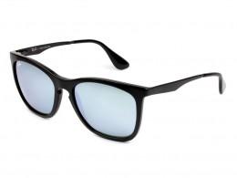 a4c3463aa0023 Óculos de Sol Ray-Ban Quadrado Armação Acetato Preta Lente Cinza Espelhada Sem  Plaquetas 0rb4238l601