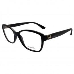 7c0fbf88c1549 Óculos de Grau Platini Quadrado Acetato Preta Aro Fechado Sem Plaquetas  0p93124e33153