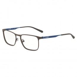 6a2d5650bd683 Óculos de Grau Arnette Retangular Metal Marrom Aro Fechado Com Plaquetas  0an6116 699 53